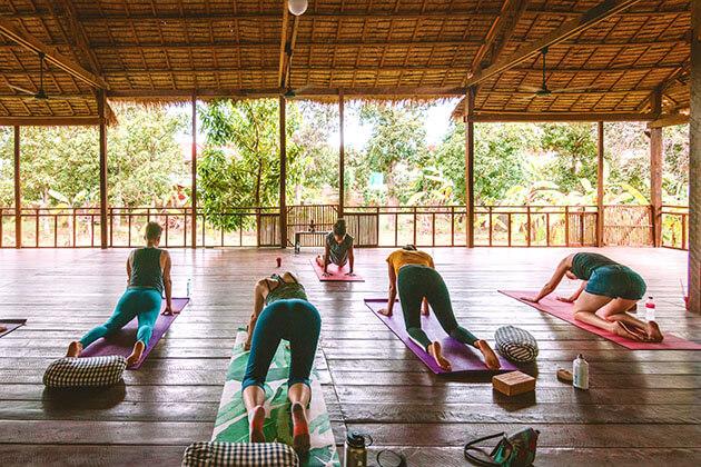 Navutu's in-house yoga master
