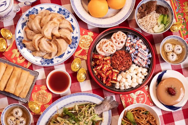 People eat dumplings during Chinese New Year