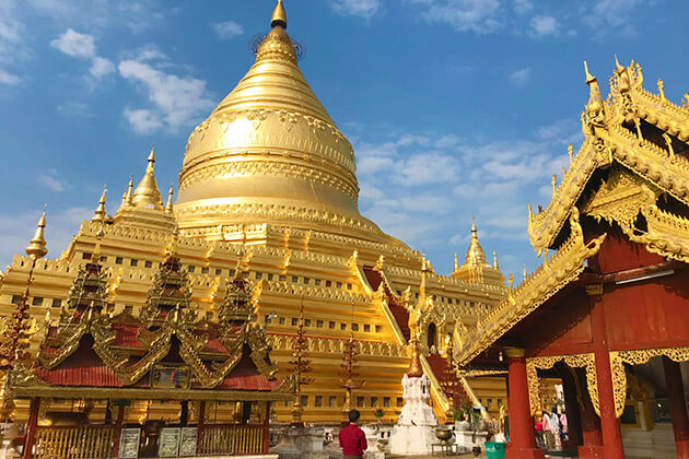 Shwezigon Pagoda - luxury tours of myanmar