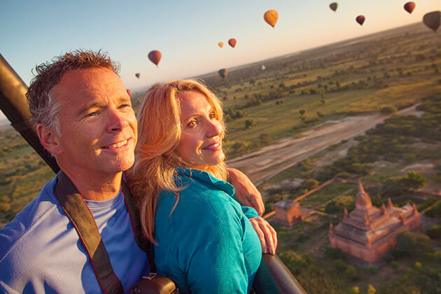 hot-air balloon - luxury tours to myanmar