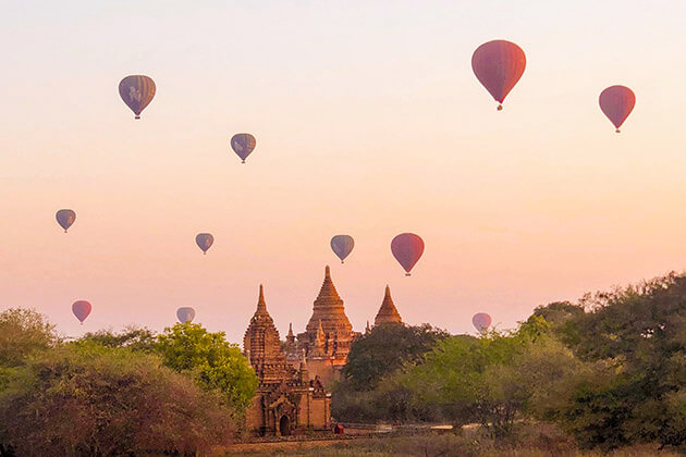 hot air balloon - things to do in asia